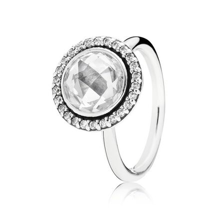 Brilliant Legacy Stackable Ring, Clear CZ