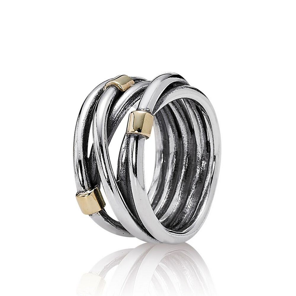 silver rope bands ring pandora jewelry us