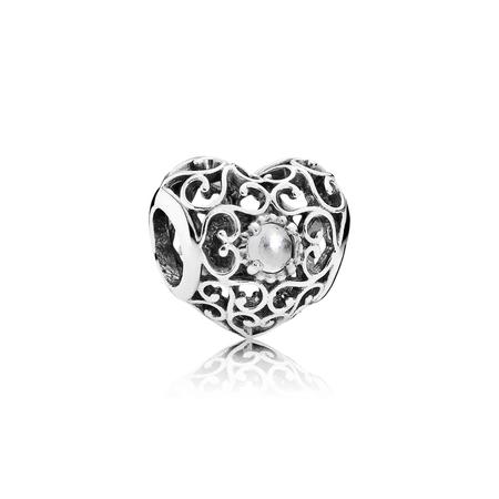 April Signature Heart, Rock Crystal