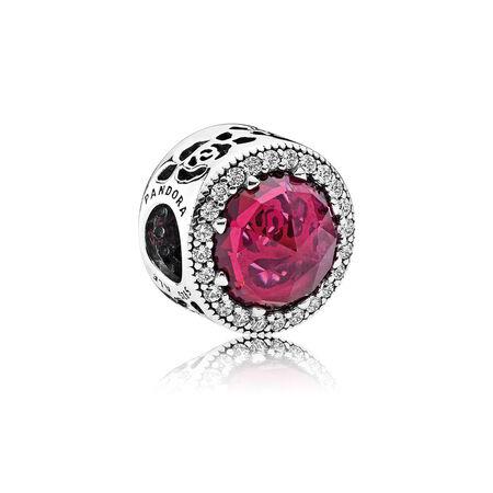 Disney, Belle's Radiant Rose, Cerise Crystals & Cubic Zirconia