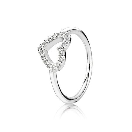 Be My Valentine Ring, Clear CZ