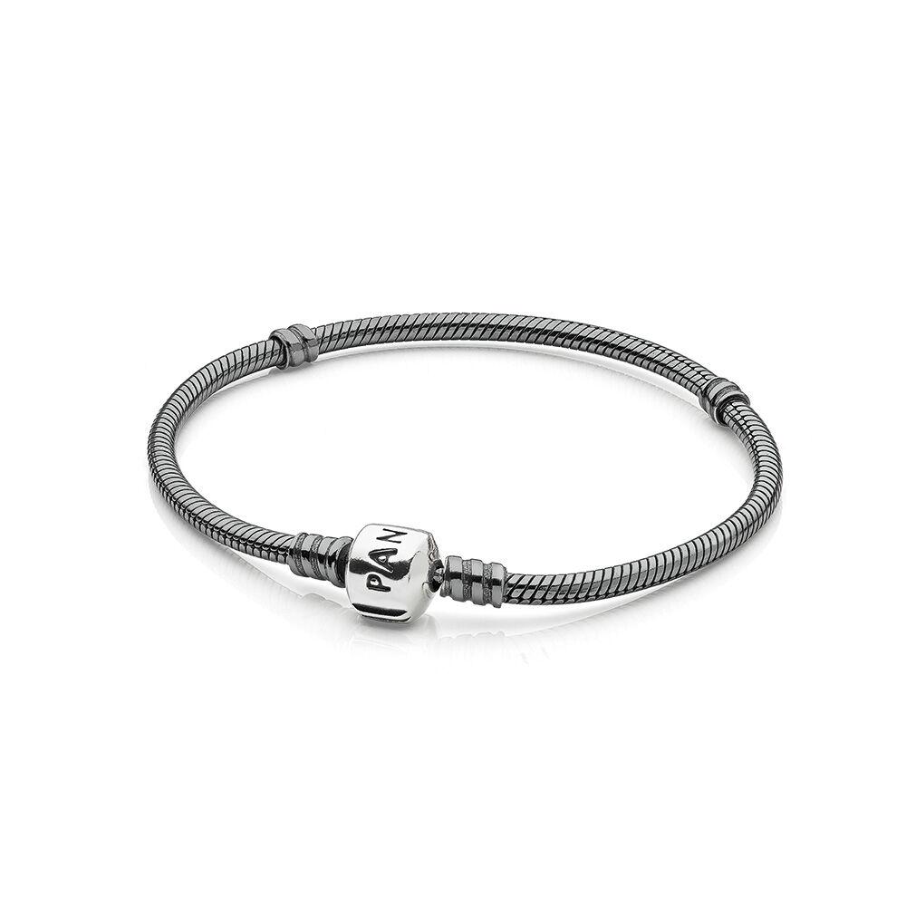 Charm Bracelets Pandora: Oxidized Silver Charm Bracelet