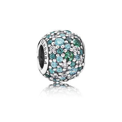 Ocean Mosaic Pavé, Mixed Green CZ & Green Crystal