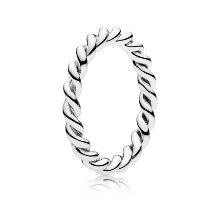 Intertwined Twist Stackable Ring