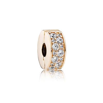 Shining Elegance, 14K Gold & Clear CZ