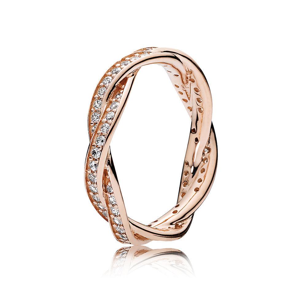 twist of fate pandora rose clear cz pandora jewelry us