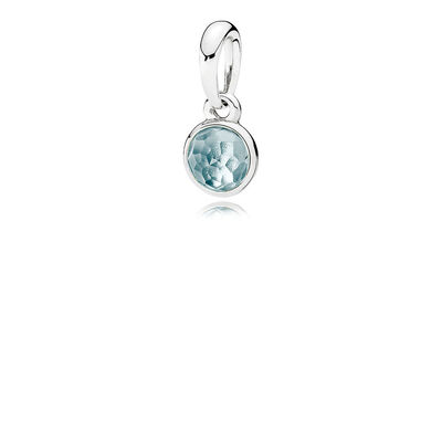 March Droplet, Aqua Blue Crystal