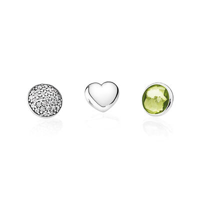 August Petites, Peridot & Clear CZ