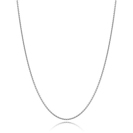 Oxidized Silver Chain Necklace