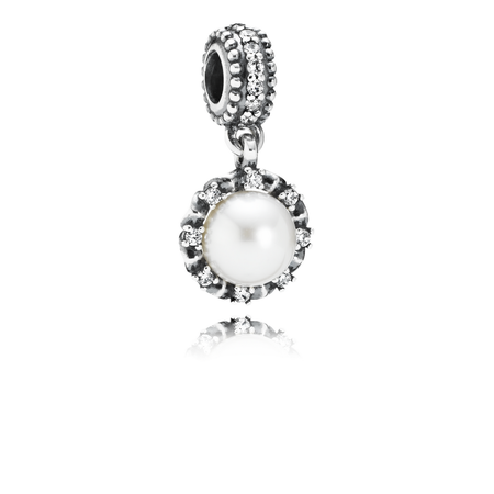 Everlasting Grace, White Pearl & Clear CZ