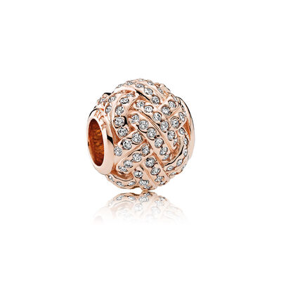 Sparkling Love Knot, PANDORA Rose™ & Clear CZ