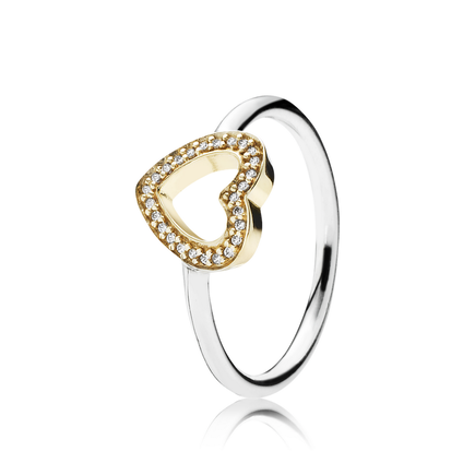 Symbol Of Love Heart Ring, Clear CZ