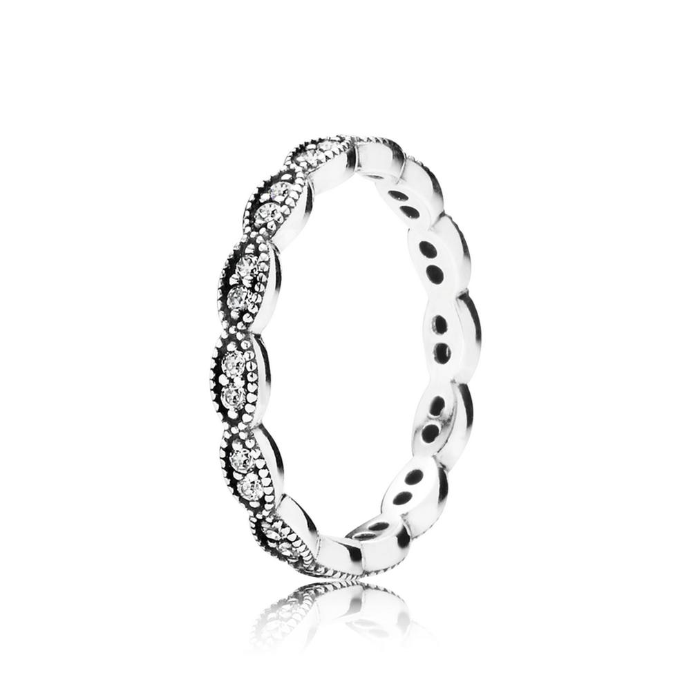 Pandora Silver Leaf Ring