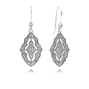 Sparkling Lace Earrings, Clear CZ