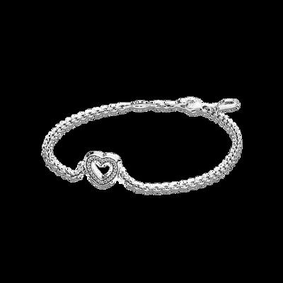Symbol of Love Bracelet, Clear CZ