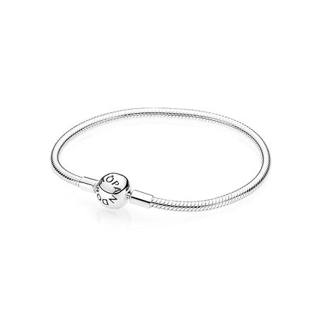 Smooth Silver Clasp Bracelet