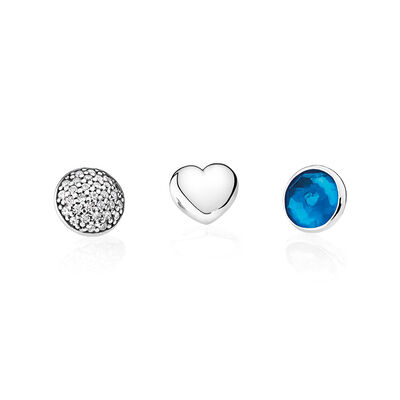 December Petites, London Blue Crystal & Clear CZ