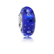 Dark Blue Effervescence, Clear CZ