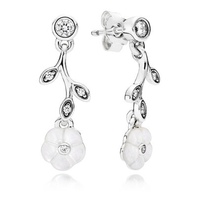 Luminous Florals, Mother-Of-Pearl & Clear CZ
