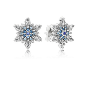 Crystalized Snowflake, Blue Crystals & Clear CZ