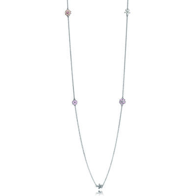 Poetic Blooms, Mixed Enamels, Clear CZ & Blush Pink Crystal