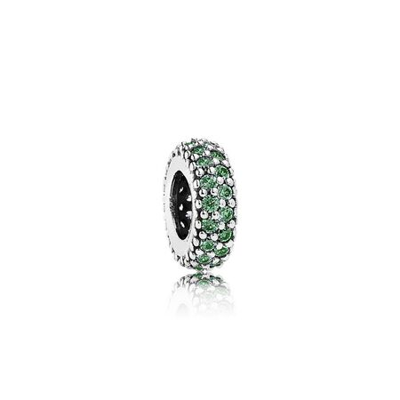 Inspiration Within Charm Spacer, Green CZ