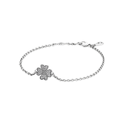 Symbol of Lucky In Love Bracelet, Clear CZ