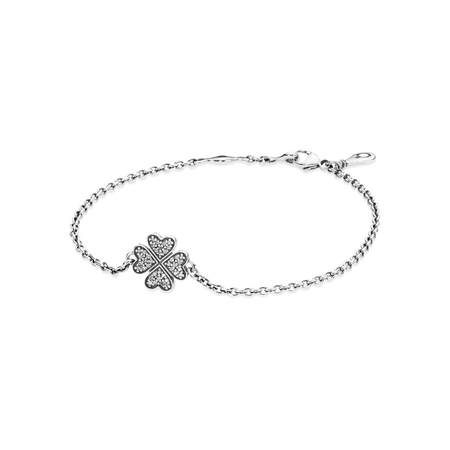 Symbol of Lucky In Love Bracelet, Clear CZ