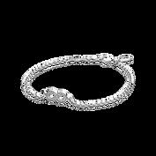 Symbol of Infinity Bracelet, Clear CZ