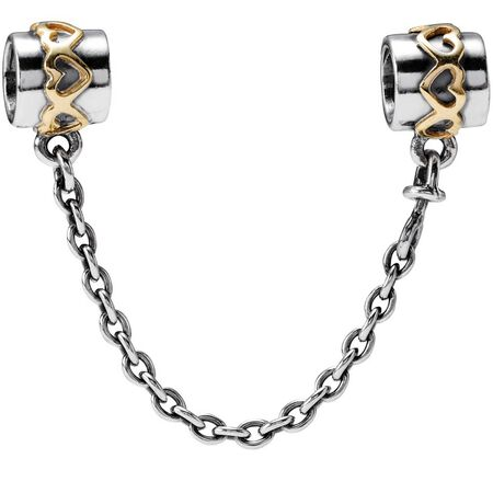 Silver safety chain, 14K