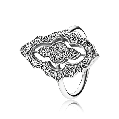 Sparkling Lace Ring, Clear CZ