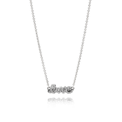 Signature Of Love Pendant Necklace, Clear CZ