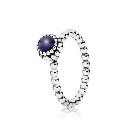 Birthday Blooms Ring, September, Lapis Lazuli