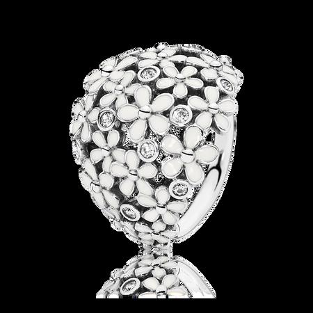 Bouquet de charmantes marguerites, émail blanc