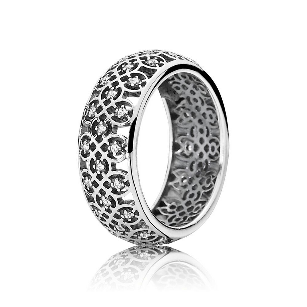 intricate lattice ring clear cz pandora jewelry us. Black Bedroom Furniture Sets. Home Design Ideas