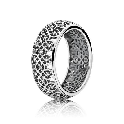 Intricate Lattice Ring, Clear CZ