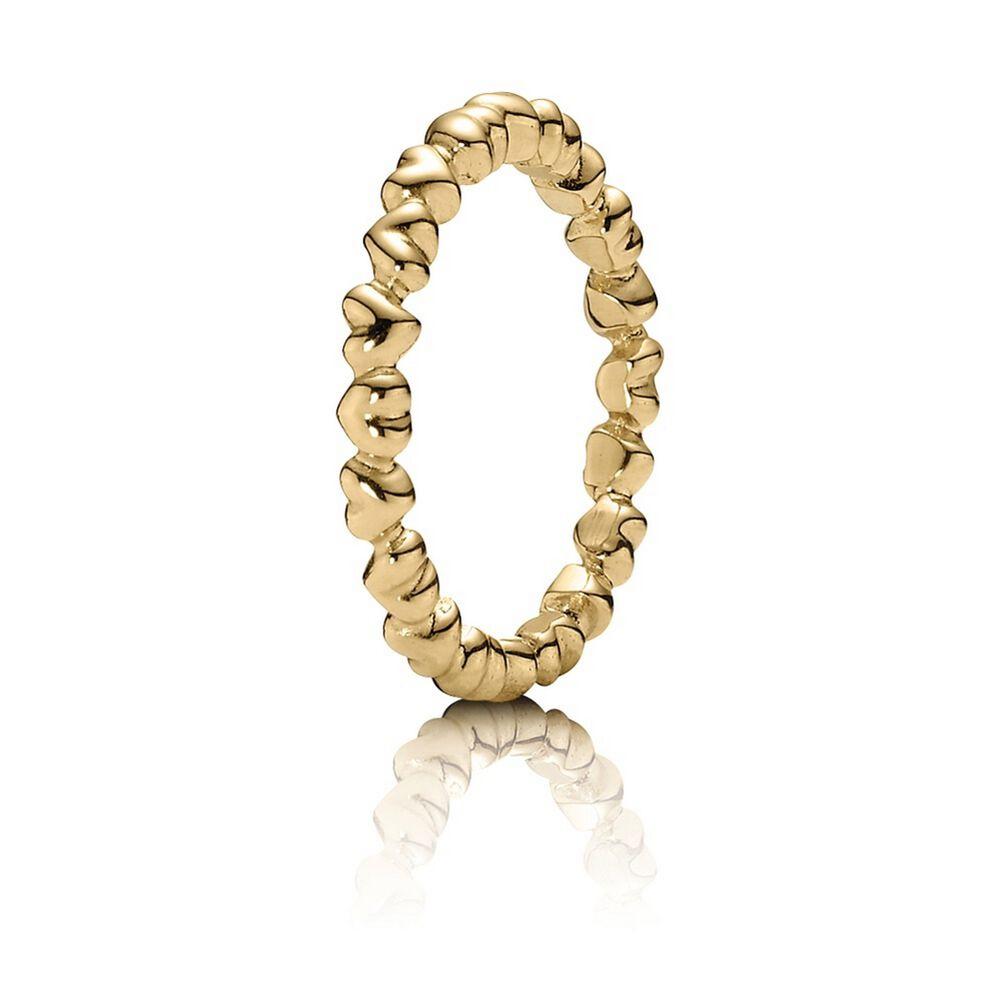 forever love stackable heart ring 14k gold pandora jewelr. Black Bedroom Furniture Sets. Home Design Ideas
