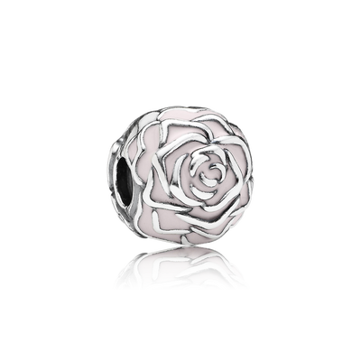 Rose Garden Clip, Pink Enamel