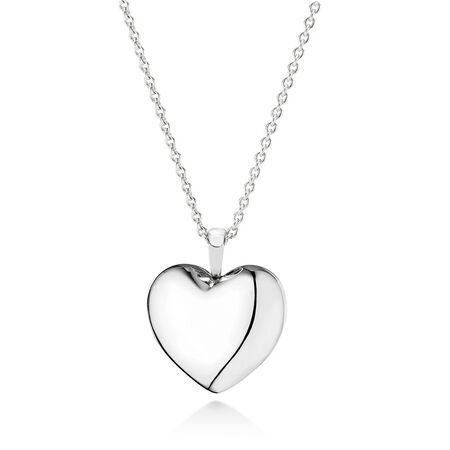 Love Locket Pendant Necklace, Clear CZ