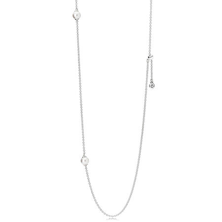 Luminous Dainty Droplets, White Crystal Pearl