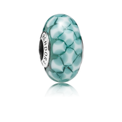 Teal Lattice, Murano Glass