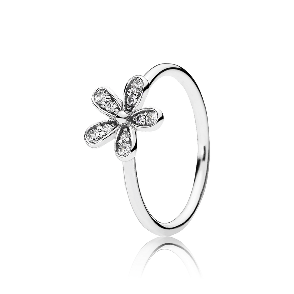 Dazzling Daisy Stackable Ring Clear Cz Pandora Jewelry Us
