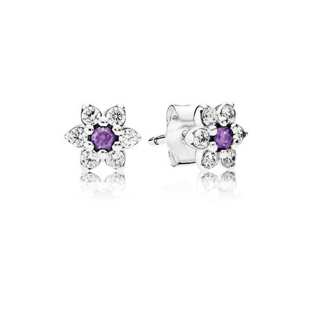 Forget Me Not Purple Clear Cz Ring