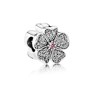Sparkling Apple Blossom, Blush Pink Crystal & Clear CZ