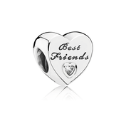 Friendship Heart, Clear CZ