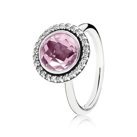 Brilliant Legacy Stackable Ring, Pink & Clear CZ