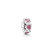 Space In My Heart Spacer, Fancy Pink CZ