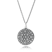 Cosmic Stars Pendant Necklace, Clear CZ