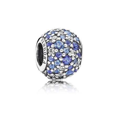 Sky Mosaic Pavé, Mixed Blue Crystals & Clear CZ