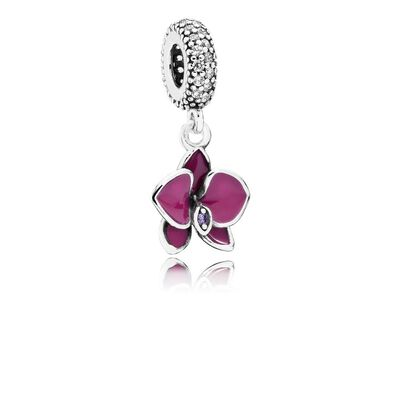 Orchid, CZ & Radiant Orchid-Colored Enamel